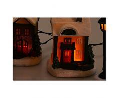 Sanifri home - beleuchtetes Weihnachtsdorf, mit LED-Beleuchtung (10-teilig)