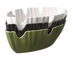 Palmblattschale mit Löffelablage, SERIE NATURAL COLLECTION, aus Melamin, stapelbar und spülmaschinenfest, in weiß, schwarz oder blattgrün / Größe: 40 x 18,5 cm, Höhe: 10 cm | SUN (weiß)