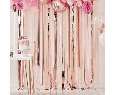 Ginger Ray Hintergrund für Party-Luftschlangen, Pink und Roségold