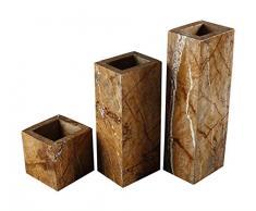 Yuchengstone Design Vase aus indischem Marmor, Marmorvase, Vase Blumenvase, massiv, rechteckig, zusammengesetzt Maße: 30x10x8cm, Gewicht: 3,35Kg