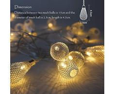 Batterie Weihnachtsbaum Dekorative LED Lichterkette für Regentropfenform Länge 3 Meter Warmweiß Angetrieben Durch Funktionale Batteriebox mit Konstantem und Funkelndem Beleuchtungsmodus von Enuotek
