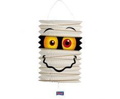 Laterne * MUMIE * für Halloween oder Horror-Party // mit 16cm Duchmesser // Deko Party Fete Set Mottoparty Motto Lampion Lantern