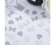 Streukonfetti Chic Boutique 14g silber Streudekoration Hochzeit Vintage Tischdeko
