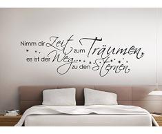 Grandora W769 Wandtattoo Zitat Nimm dir Zeit zum träumen... schwarz 135 x 45 cm