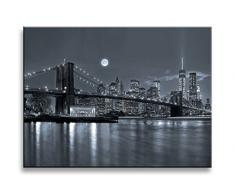 Bild auf Leinwand New York USA 4303-SCT deutsche Marke und Lager - Die Bilder / das Wandbild / der Kunstdruck ist fertig gerahmt 40 x 30 cm
