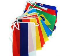 Internationale Wimpelkette mit 32 Länderflaggen ca. 10.50 m 20x29 cm Flaggen Wimpel Kette Girlande