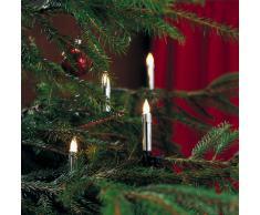 Konstsmide 2316-900 Silberfarbene Baumkette mit gefrosteten Birnen und Wachsoptik/für Innen (IP20) / 230V Innen / 20 gefrosteten Birnen/grünes Kabel