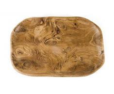 Windalf Obst Holz-Schale Malva 29 cm Snack Schmuck Antipasti Teakschale Handarbeit Holz