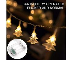 10M LED Weihnachtsbaum Lichterkette, Sinicyder 80 LED Lichterkette, Batteriebetrieben Deko Mini Lichterketten für Zimmer, Innen, Weihnachten, Kinderzimmer, Außen, Party, Hochzeit (Warmes Weiß)