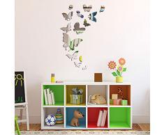 Walplus Home Interior Dekoration Spiegel Schmetterlings Wand Kunst Aufkleber