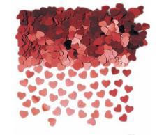 PARTY DISCOUNT Konfetti Glänzende Herzen, rot, 14 g
