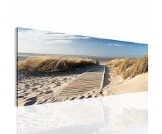 Bilder 100 x 40 cm - Strand Bild - Vlies Leinwand - Kunstdrucke -Wandbild - Mehrere Farben Und Größen Im Shop - Fertig Aufgespannt - 604012a