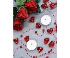 30 Dekosteine Herzen rot 2,1 cm Streudeko Tischdekoration Hochzeit Taufe Weihnachten