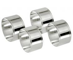 Contacto Serviettenring, versilbert runde Form, Set a 4 Stück