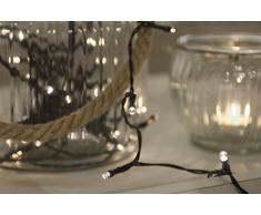 Home&Style Lichterkette 96 LEDs, Länge 7,2 m, 50 cm Zuleitungskabel 3x AA Batteriefür den Außenbereich mit Timer 6H/18H und 8-Funktionsregler mit speicher im Farbkarton, warmweiß 007767