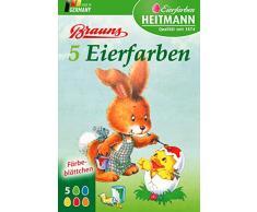 Heitmann Eierfarben - Brauns 5 Eierfarben - klassisches und traditionelles Eierfärben - grün, blau, gelb, rot und orange