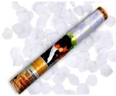 2 x weiße Konfetti Rosen Regen 60 cm lang Kanone Shooter Konfettibome Partypopper Hochzeit