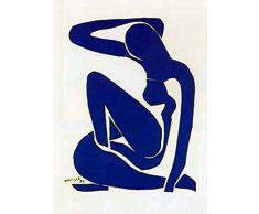 1art1 41269 Henri Matisse - Blauer Akt Poster Kunstdruck 70 x 50 cm
