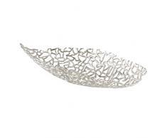 Boltze Deko-Schale Fidan Silber Aluminium (65cm oval)
