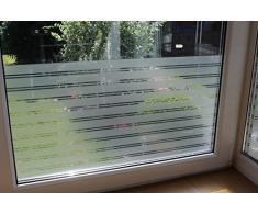 7,23€/m² Fensterfolie Sonnenschutz Wintergarten UV Sichtschutzfolie Spiegelfolie gemusterte Deko Folie (Fensterbreitex Fensterhöhe 1m x 76cm Structur)