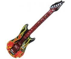 10 Stück Fasching Luft - Gitarre Flammengitarre ca. 100cm
