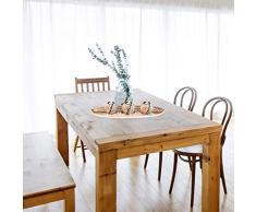 Relaxdays Teelichthalter Set, Kerzenschale, Dekokies, runde Kerzenhalter, stimmungsvolle Tischdeko, 51,5 cm lang, braun