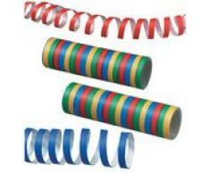 Susy Card 11144789 - Luftschlangen, Streifen, farbig, sortiert, 2 Rollen