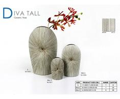 Blumenvase Keramikvase Tischvase Cortina - 30cm (weiß)