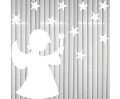 Engel + 10 Sterne Sternchen Schutzengel Weihnachtsengel Christkind Aufkleber die cut Tattoo Winter Fenster Deko Folie Weihnachten
