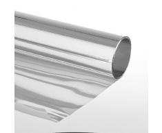 Sonnenschutzfolie Extrem Selbstklebend mit Spiegeleffekt Fensterfolie Tönungsfolie Schutzfolie Silber,75 x 600 cm, Silber