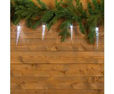 XMASKING Lichterkette 8 m, 40 LEDs kaltweiß, Kabel grün, Weihnachtsbeleuchtung, Baumbeleuchtung, Lichterkette, Lichterkette, Lichterketten