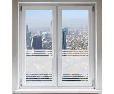 INDIGOS UG Glasdekorfolie Dusche Folie für Duschkabine Fensterfolie Bad Sichtschutz Streifendesign satiniert blickdicht - 600mm Breite x 500mm Höhe - auch mit Individueller Breite