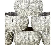 Handgemachte Indische Silber Perlen Serviettenringe - Set 12 Ringe