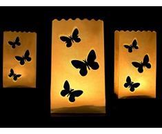 10 Luminaris Leuchttüten Dekoration Lichtertüten Hochzeit - Motiv Schmetterling