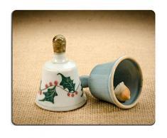 Mauspad Naturkautschuk Mousepad Bild-ID 32239370 Bild der keramischen Handglocke auf braunem Sack