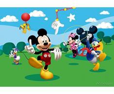 AG Design FTD 0253 Disney Mickey Mouse, Papier Fototapete - 360x254 cm - 4 teile, Papier, multicolor, 0,1 x 360 x 254 cm