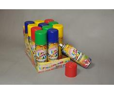 Unbekannt Luftschlangenspray, 100 ml Sortiert, 4 Stück