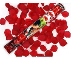 2 x Rosen Regen mit roten Rosenblättern Konfetti Kanone Shooter Hochzeit Konfettibome Partypopper