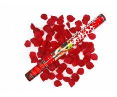 Konfetti Shooter Rosenregen Konfettokanone Hochzeit 60cm (Rot)