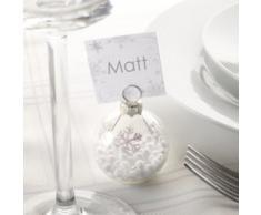 Neviti Shimmering Snowflake, Baumkugel-Tischkartenhalter, Mehrfarbig, 6 Stück