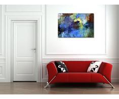 Acryl und Ölfarben auf Hartfaserplatte - 60x40 cm - Textil-Leinwandbild auf Keilrahmen - Wand-Bild - Kunst, Gemälde, Foto, Bild auf Leinwand - Abstrakt