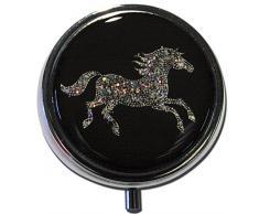 "metALUm Premium Taschenspiegel in runder Form ""Peace Symbol"""