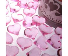 30x Dekosteine Herzen 22mm EinsSein® rosa Dekoration Streudeko Konfetti Tischdeko Hochzeit