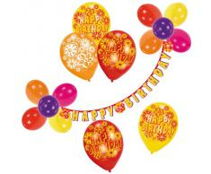 Riethmüller 450006 - Deko Set - Happy Birthday, Girlande und Luftballons