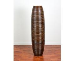Leewadee Große Bodenvase 112 cm, Mangoholz, Braun