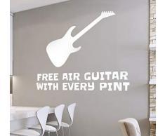 Wandaufkleber Schlafzimmer Kostenlose Luftgitarre mit jedem Pint Wandaufkleber für Wohnzimmer Schlafzimmer Jungen Schlafzimmer