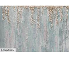 KunstLoft® Acryl Gemälde Viridian Stream 75x100cm   original handgemalte Leinwand Bilder XXL   Abstrakt Blau Weiß kalt   Wandbild Acryl bild moderne Kunst einteilig mit Rahmen