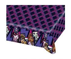 Tischtuch Deko Tisch Decke 120 cm x 180 cm Kinderparty Partytischdecke Monster High 2 Plastik Tischdecke Partydekoration Geburtstag Mädchen Kindergeburtstag Dekoration Accessoires Plastiktischdecke Kinder