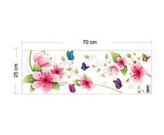 Farbig Wandbild Wandtattoo Bunte Blumen Und Schmetterlinge Wandaufkleber  Wandsticker Wandbilder Aufkleber Deko. PVC Für Wohzimmer