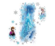 RoomMates RMK2739GM RM - Disney Frozen Eispalast Glitzernd Wandtattoo, PVC, Bunt, 48 x 13 x 2.5 cm
